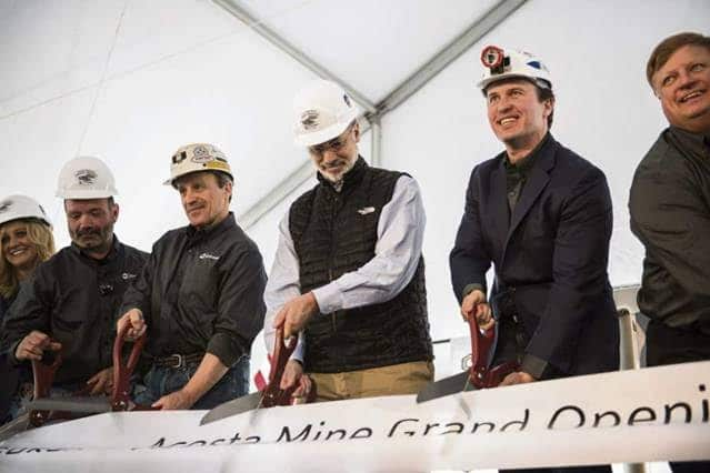 Aspire Celebrates the Opening of the Acosta Mine with Governor Tom Wolf and President Donald Trump